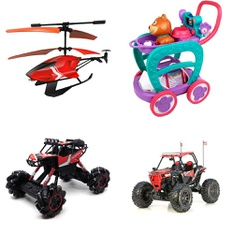 Pallet – 49 Pcs – Vehicles, Trains & RC, Vehicles, Pretend & Dress-Up, Action Figures – Customer Returns – New Bright, Sky Rover, Kid Connection, Hyper Bicycles