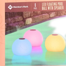 19 Pcs - Members Mark LED Color Changing Floating Pool Ball with Speaker - (GRADE A)