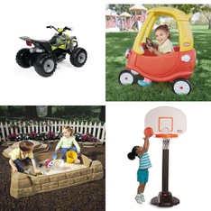 Pallet - 6 Pcs - Vehicles, Outdoor Play - Customer Returns - Little Tikes, Step2, American Plastic Toys, NA