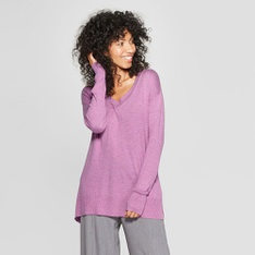 100 Pcs - A New Day Women's V-Neck Luxe Pullover Sweater, Orchid XS - New - Retail Ready