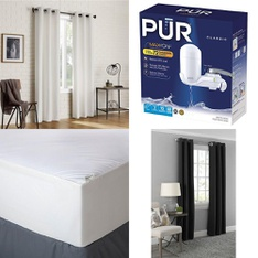 6 Pallets – 568 Pcs – Covers, Mattress Pads & Toppers, Curtains & Window Coverings, Hardware, Kitchen & Dining – Customer Returns – Mainstays, PUR, Mainstay's, Kidde