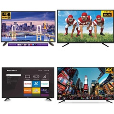 50 Pcs - LED/LCD TVs - Refurbished (GRADE A, GRADE B) - RCA, TCL