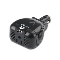 265 Pcs - Powerline, 90384, DC to AC Inverter with 2.4 amp USB power - Used - Retail Ready
