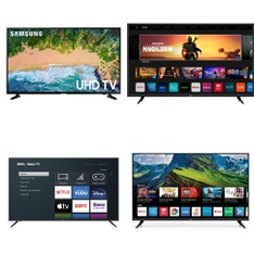 5 Pcs – LED/LCD TVs – Refurbished (GRADE C) – VIZIO, Samsung, onn.