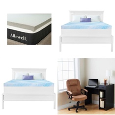 Pallet – 16 Pcs – Covers, Mattress Pads & Toppers, Camping & Hiking – Customer Returns – Dream Serenity, Allswell, Mainstay's