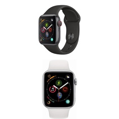 5 Pcs – Apple Watch – Series 4 – Cell – Refurbished (GRADE D) – Models: MTUW2LL/A, MTUU2LL/A