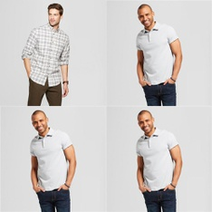 150 Pcs - Men`s T-Shirts, Polos, Sweaters - New - Retail Ready - Goodfellow & Co, C9 Champion, Original Use