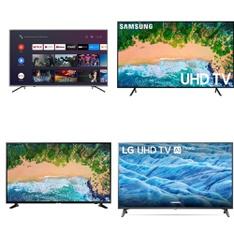 50 Pcs – LED/LCD TVs – Refurbished (GRADE A, GRADE B) – Samsung, HISENSE, LG