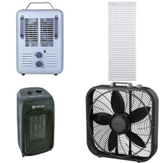 3 Pallets - 137 Pcs - Fans, Heaters, Rugs & Mats, Accessories - Customer Returns - Lasko, Mainstay's, Comfort Zone, Utility