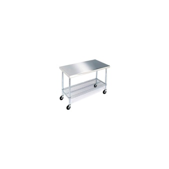 15 Pcs – Member's Mark 18308ZW Work Table with 49″ Stainless Steel Top – New – Retail Ready