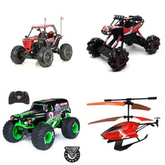 3 Pallets – 66 Pcs – Vehicles, Trains & RC, Not Powered, Vehicles – Customer Returns – New Bright, Huffy, Jetson, Hyper Bicycles