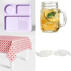 102 Pcs – Kitchen & Dining – New – Retail Ready – Pillowfort, Sun Squad, MEPRA, Palais Glassware