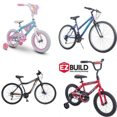 Pallet - 5 Pcs - Cycling & Bicycles - Customer Returns - Disney, Movelo, Huffy, Hyper Bicycles