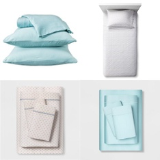 150 Pcs - Bedding Sets, Sheets & Pillowcases - New - Retail Ready - Opalhouse, threshold, Room Essentials, Project 62