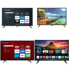 Truckload – 24 Pallets – 471 Pcs – TVs – Open Box (Tested Working) – Onn, VIZIO, TCL, Samsung