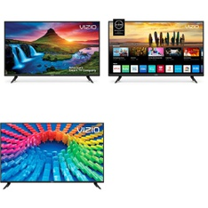 6 Pcs – LED/LCD TVs – Refurbished (GRADE C) – VIZIO