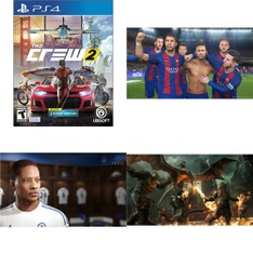 16 Pcs – Sony Video Games – New, Open Box Like New, Used – The Crew 2 (PS4), FIFA 17 PS4, Pro Evolution Soccer 2017 (PlayStation 4), Brunswick Bowling (PS4)