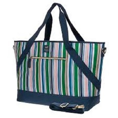 50 Pcs – Dabney Lee Insulated Picnic Tote In Stripe – New – Retail Ready