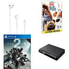 Pallet – 399 Pcs – In Ear Headphones, Sony, Other, DVD Discs – Customer Returns – Apple, Activision Inc., Universal Pictures Home Entertainment, Sony