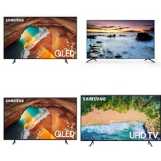 5 Pcs – LED/LCD TVs – Refurbished (GRADE A, GRADE B, No Stand) – Samsung, TCL, SCEPTRE
