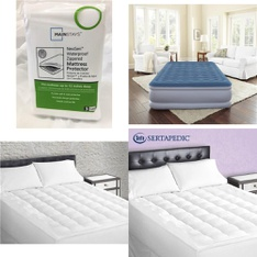 Pallet – 37 Pcs – Covers, Mattress Pads & Toppers, Comforters & Duvets – Customer Returns – Mainstays, Sertapedic, Beautyrest, Serta