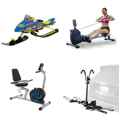 Pallet – 11 Pcs – Cycling & Bicycles, Exercise & Fitness – Customer Returns – Paw Patrol, XTERRA, Mongoose, Sunny Health & Fitness (SJTT9)