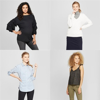 150 Pcs – T-Shirts, Polos, Sweaters & Cardigans – New – Retail Ready – Universal Thread, A New Day, Isabel Maternity by Ingrid & Isabel