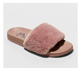 100 Pcs – Mad Love Women's Phoebe Slide Sandal – Mauve 7 – New – Retail Ready
