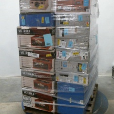 Pallet – 35 Pcs – Receivers, CD Players, Turntables, Monitors, Inkjet – Customer Returns – HP, Victrola, Onn