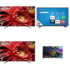 5 Pcs - LED/LCD TVs - Refurbished (GRADE C, GRADE D) - Sony, ELEMENT, Samsung, LG