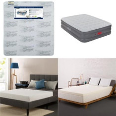 Clearance! 6 Pcs - Mattresses - New, Like New, Used, Open Box Like New - Retail Ready - Sealy, Authentic Comfort, Coleman, Serta
