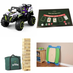 Pallet – 6 Pcs – Boardgames, Puzzles & Building Blocks, Vehicles – Customer Returns – Disney, Little Tikes, Garden Games, Front Porch Classics