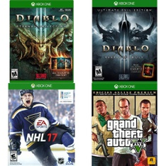150 Pcs - Microsoft Video Games - New, Used - Diablo III Eternal Collection (XB1), NHL 17 :Xbox One, Diablo 3: Ultimate Evil Edition Reaper of Souls, Grand Theft Auto San Andreas