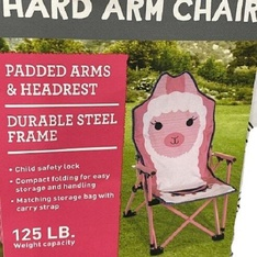 20 Pcs – Member's Mark 980215684 Kid's Hard Arm Chair, Pink Llama – New – Retail Ready