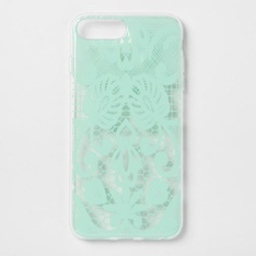 27 Pcs - heyday Apple iPhone 8 Plus/7 Plus/6s Plus/6 Plus Printed Lace Case-Teal - New, New Damaged Box, Like New, Open Box Like New - Retail Ready