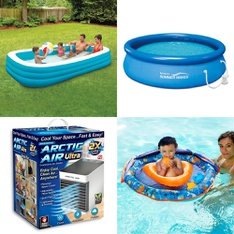 Truckload 26 Pallets - 681 Pcs - Pools & Water Fun, Camping & Hiking, Humidifiers / De-Humidifiers, Outdoor Sports - Customer Returns - Play Day, As Seen On TV, Coleman, Bestway