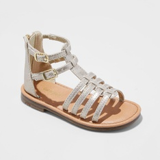 30 Pcs - Cat & Jack Toddler Girl's Taylor Gladiator Sandals, Gold/10 (Ankle strap) - New - Retail Ready
