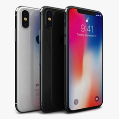 5 Pcs - Apple iPhone X 64GB - Unlocked - Certified Refurbished (GRADE C)