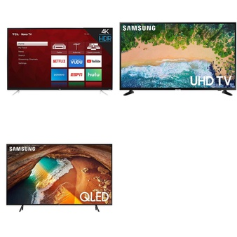 18 Pcs – LED/LCD TVs (42″ – 43″) – Refurbished (GRADE A, GRADE B) – Samsung, TCL