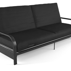 Pallet – Mainstays 2240059W Metal Arm Futon with 6″ Mattress, Black – Living Room – Customer Returns – Mainstay's