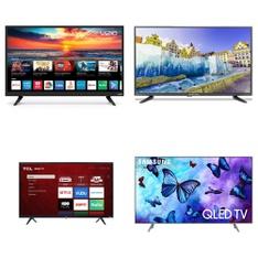 12 Pcs – LED/LCD TVs – Refurbished (GRADE A, GRADE B) – TCL, Samsung, SCEPTRE, VIZIO