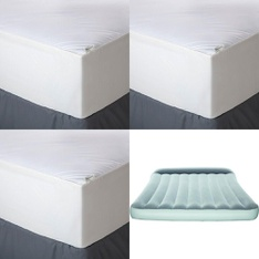 3 Pallets - 132 Pcs - Covers, Mattress Pads & Toppers, Comforters & Duvets, Camping & Hiking, Bedding Sets - Customer Returns - Aller-Ease, Mainstay's, Bestway, American Textile
