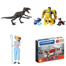 53 Pcs - Action Figures - New - Retail Ready - Jurassic World, Playskool, Toy Story, Ready2Robot
