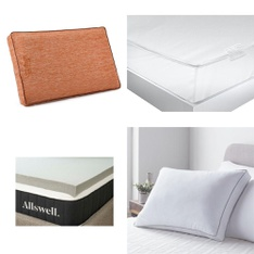 Pallet – 23 Pcs – Covers, Mattress Pads & Toppers – Customer Returns – Mainstay's, Beautyrest, Aller-Ease