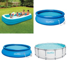 5 Pallets - 86 Pcs - Pools & Water Fun, Outdoor Play, Not Powered, Vehicles, Trains & RC - Customer Returns - Play Day, Summer Waves, PolyGroup, Summer Waves Elite®