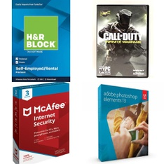 124 Pcs - Computer Software & Video Games - Brand New - H & R Block, McAfee, Activision, Adobe