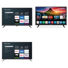 5 Pcs – LED/LCD TVs – Refurbished (GRADE A, No Stand) – Onn, VIZIO