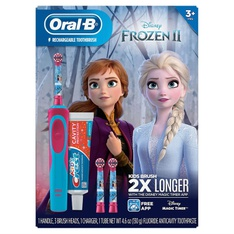 50 Pcs – Oral-B Kid's Disney Frozen 2 Electric Toothbrush and Crest Sparkle Fun Toothpaste – New – Retail Ready