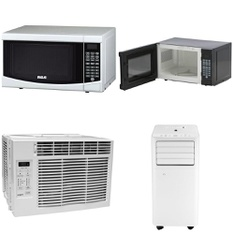 Pallet – 20 Pcs – Microwaves, Air Conditioners, Heating & Cooling – Customer Returns – RCA, Hamilton Beach, Tosot, Curtis International