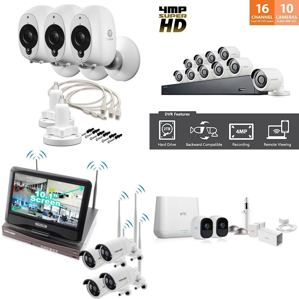 Pallet - 50 Pcs - Security & Surveillance - Tested Not Working - Swann,  Samsung, Crystal Vision Technology, Arlo